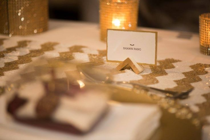 Place cards at our wedding