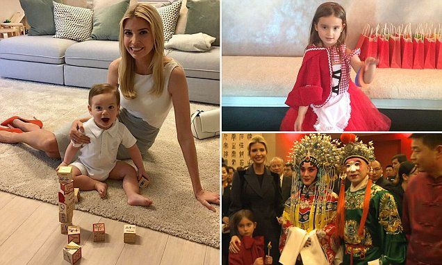 Ivanka Trump's youngest son learning Mandarin Chinese with blocks #DailyMail