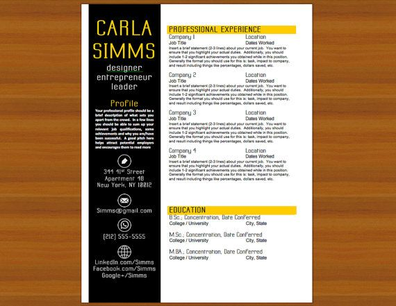 56 best resume designs images on Pinterest Resume, Resume design - eye catching resume objectives