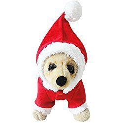 MIXMAX Pet Puppy Dog Christmas Clothes Santa Claus Costume Outwear Coat Apparel Hoodie (Santa, X-Large)