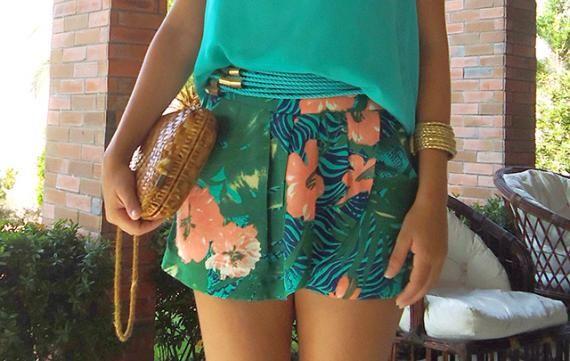 Shorts-saia florido, ideal para os dias quentes http://vilamulher.terra.com.br/trend-shortsaia-cp-14-1-32-2679.html