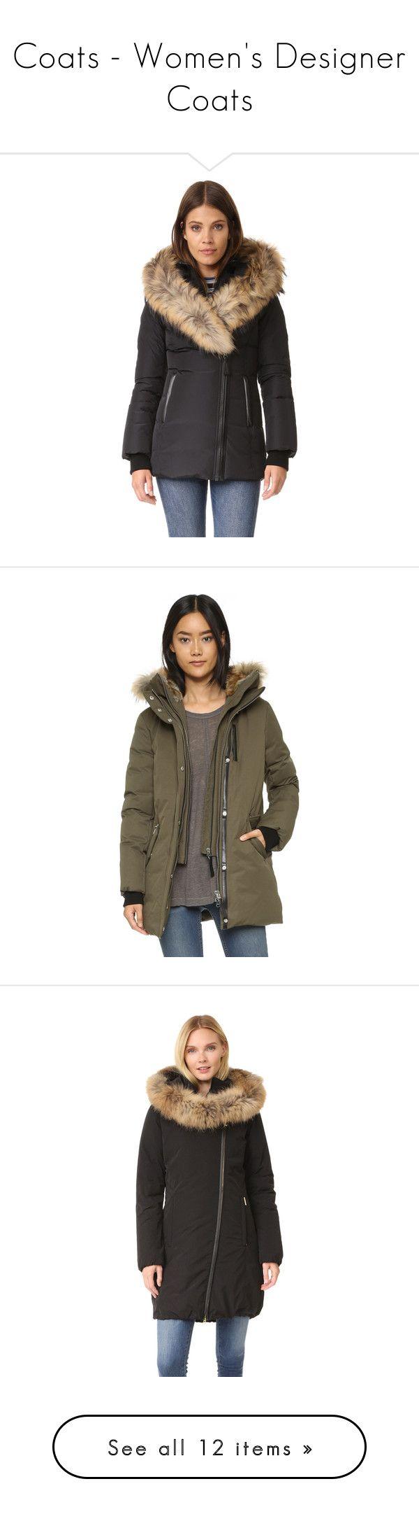 """Coats - Women's Designer Coats"" by modalist ❤ liked on Polyvore featuring outerwear, coats, mackage coats, down filled coats, fur-lined coats, zip coat, mackage, hooded coat, brown coat and fur trim hooded coat"