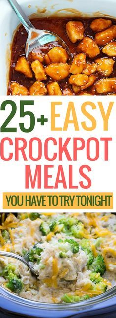 Easy crockpot meals that you can set it and forget in the slow cooker. Break out the crockpot just in time as the weather changes. Place all your ingredients in the crockpot and within a few hours you can enjoy a delicious crockpot meal. These are absolutely incredible and you need to make these tonight!