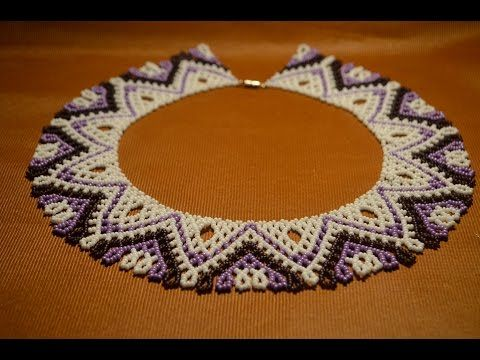 "Колье из бисера ""Грация"". Бисероплетение. Мастер класс / Necklace of beads. Beading - YouTube"