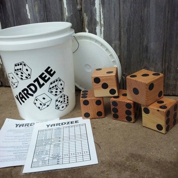 Yardzee - Lawn Dice - Yard Game - Lawn Game - Reception Game - Outdoor Wedding - BBQ Fun - Independence Day - Camping - Summer games - Dice, lawn game, summer games, outdoor, party, barbeque, pool, porch, deck , yard, summer fun, games, gifts, birthday present (aff link)