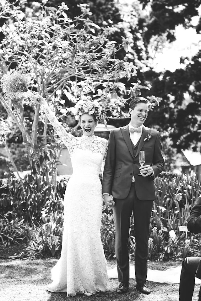 Black and white wedding portraits | Lara Hotz Photography | see more on: http://burnettsboards.com/2014/08/emily-ed-stylists-vision-brought-life/