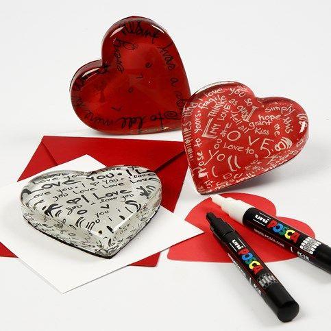 13515 Gedecoreerd glazen hart voor Valentijn