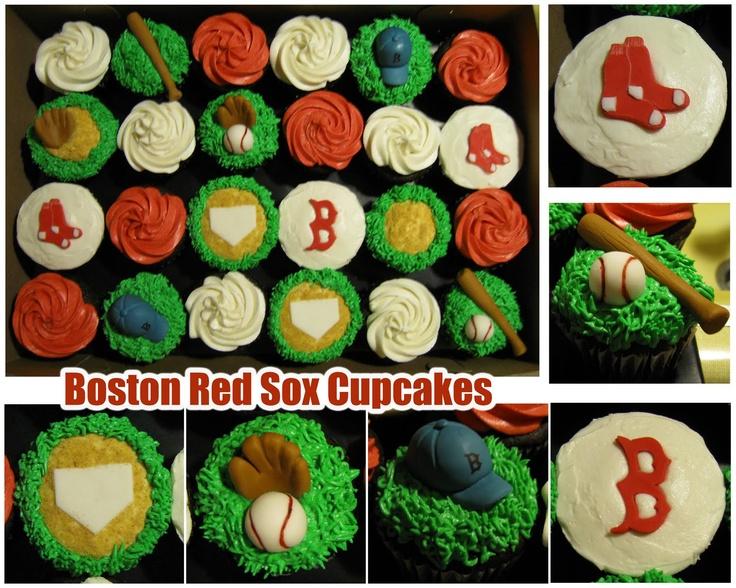 Boston Red Sox: Bleed Boston, Baylor S Birthday, Anthonys Birthday, Sox Cupcakes, Boston Redsoxs, Cake Ideas, 1St Birthdays, Birthday Party, Boston Red Sox