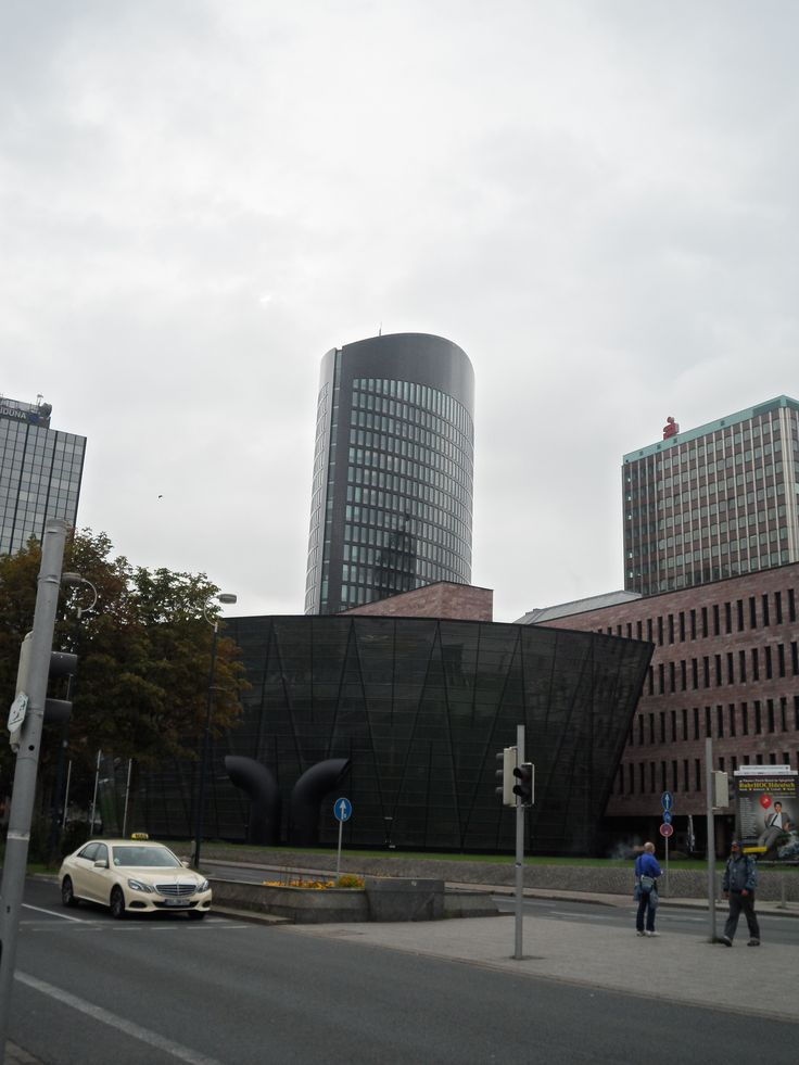 RWE Tower and in foreground Bibliothek