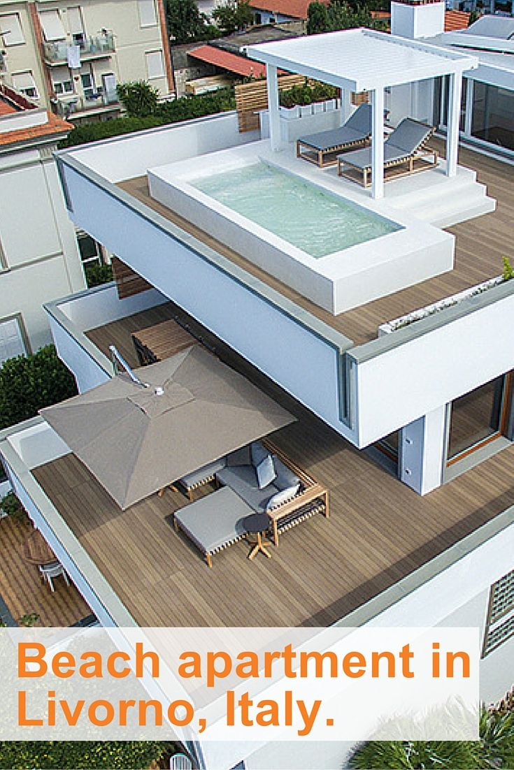 Architect Daniele Lotti loves using Esthec® Terrace for high-end projects like this gorgeous beach house in Livorno, Italy. FInd out why on our blog.