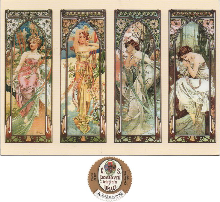 CZ-1322085 (2018°6) - Arrived: 2018.01.19   ---   Mucha - The Times of the Day series (1899)