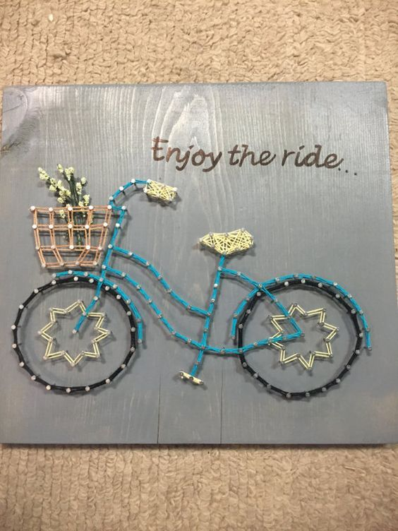 Bicycle String Art Enjoy the Ride by EveryStringAttached on Etsy:
