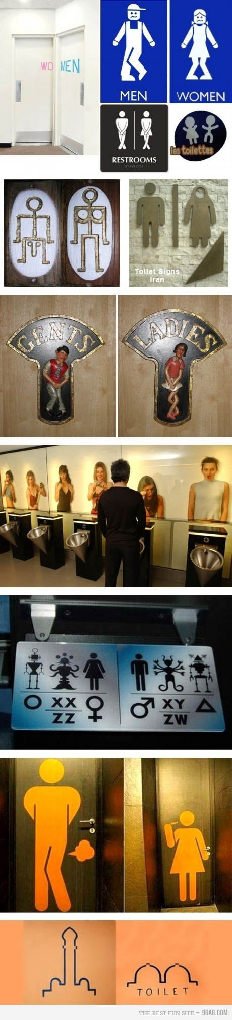 loads of funny toilet signs