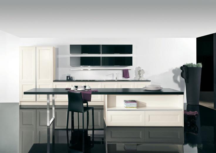 Cucina Linea Verona -  Linea cucina accattivante e attuale che da valore ai dettagli. La pulizia e l'essenzialità delle sue linee si sposano con le diverse soluzioni compositive.  #arredamento #design #kitchen #cucina #mobili