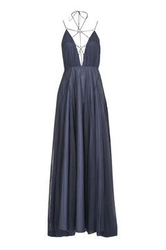 Tulle Laceup Maxi Dress