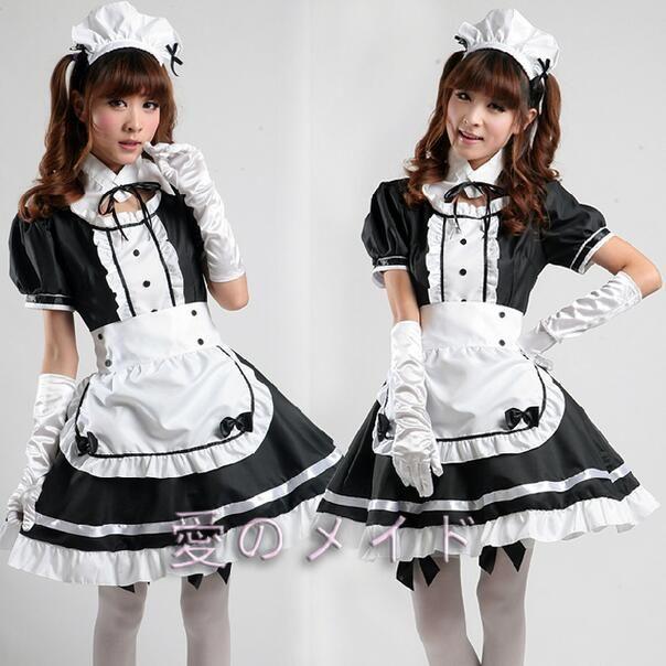 Sexy Französisch Maid Kostüm Süße Gothic Lolita Kleid Anime Cosplay Sissy Maid Uniform Plus Größe Halloween Kostüme Für Frauen