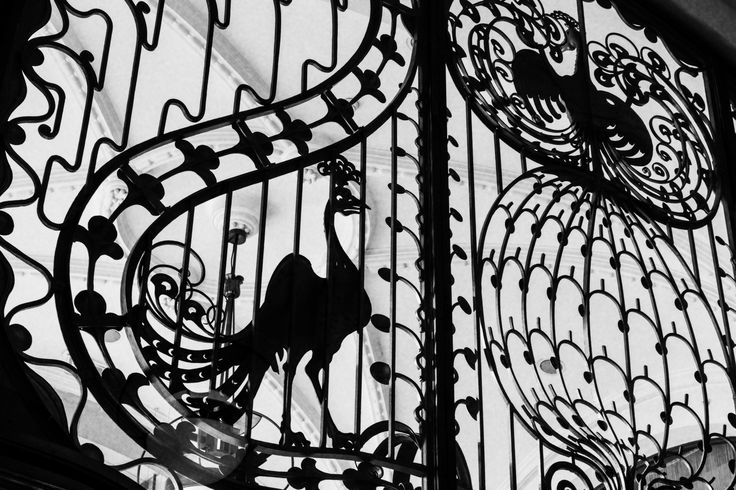 The famous wrought iron peacock gates are one of the characteristics of Four Seasons Hotel Gresham Palace.