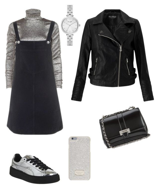 """""""SILVER AND GOLD OUTFIT"""" by juliapedersen0 on Polyvore featuring Puma, Aspinal of London, Dries Van Noten, Topshop, Kate Spade, MICHAEL Michael Kors and Miss Selfridge"""