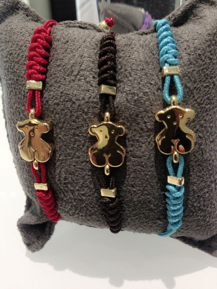 Our 18K Gold Bear in different colors, make your favorite bracelet only @TOUS Jewelry Washington DC