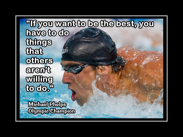 "Swimming Poster Michael Phelps Swimmer Photo Quote Wall Art Print 5x7""- 11x14"" To Be The Best U Must Do What Others Won't - Free USA Ship by ArleyArtEmporium on Etsy"