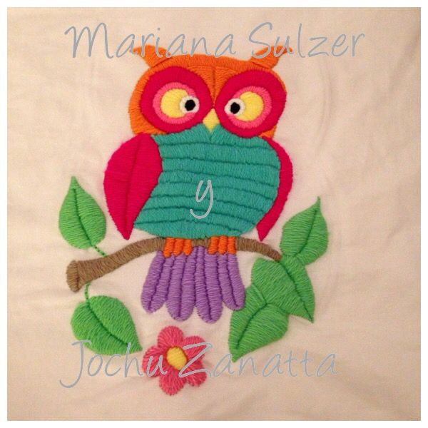 Bordado a mano con lanas. Mariana Sulzer y Jochu Zanatta