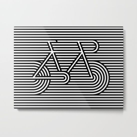 A bike poster about speed. It uses high contrast black and white lines and simple geometry in a clever way to trick your eyes.