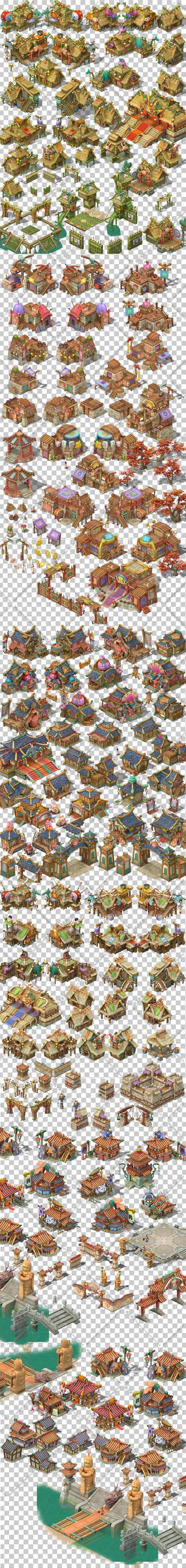 游戏原画资源/场景素材/2D资源横版地图...