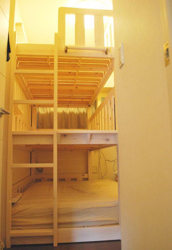 オーダーひのき三段ベッドダブルとシングル二段の三段ベッド ... DSC_3121.jpg