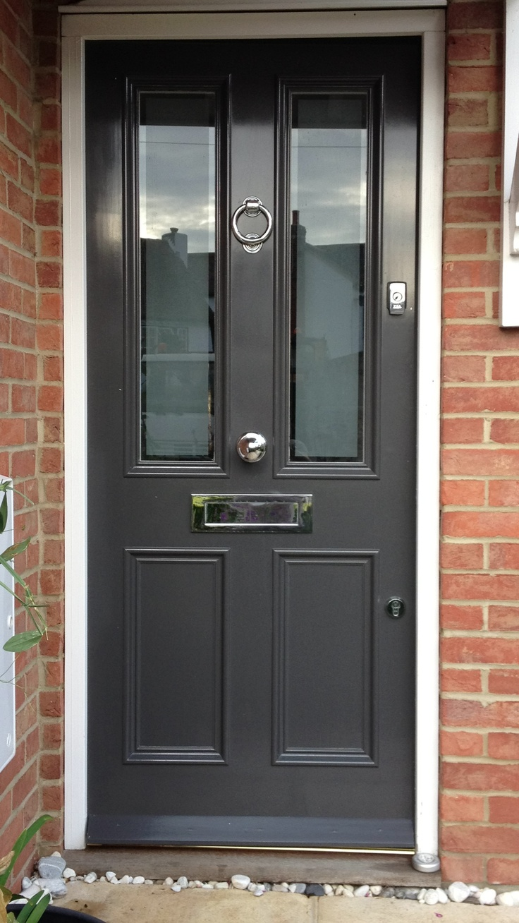 Best 25 grey front doors ideas on pinterest dark grey front door composite front door and for Composite french doors exterior