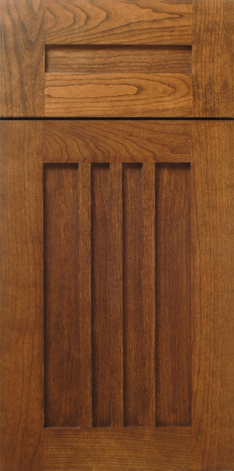 """Purcell"" Craftsman Style Kitchen Cabinet Door in Cherry by WalzCraft"
