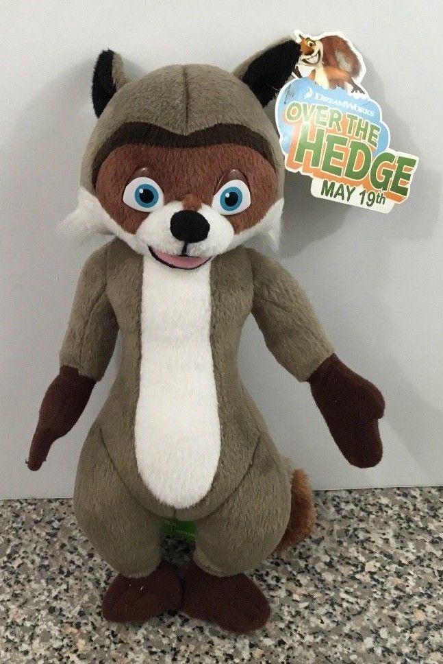 Over The Hedge R.J. Raccoon Stuffed Animal Toy Dream Works Movie Plush NWT  #snapcm