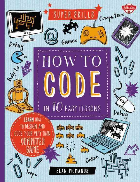Learn how to code in 10 easy lessons, and become a computer pro in no time! From writing simple coding instructions using Scratch software, to learning the coding skills to create your own computer ga