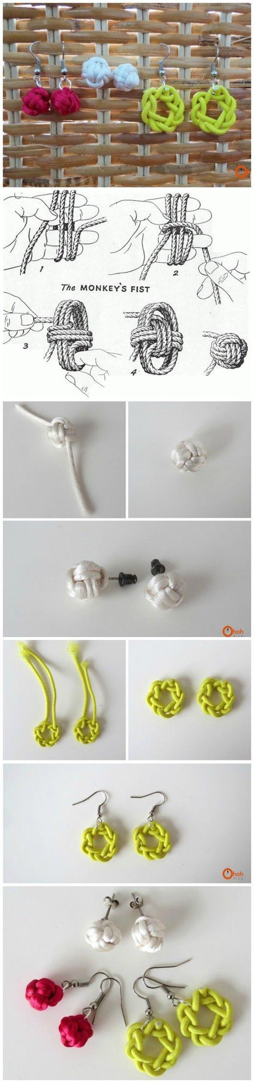 best 25+ diy knot earrings ideas on pinterest | diy earrings how