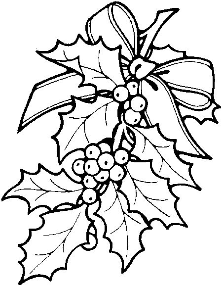 christmas holly border coloring pages - photo#10
