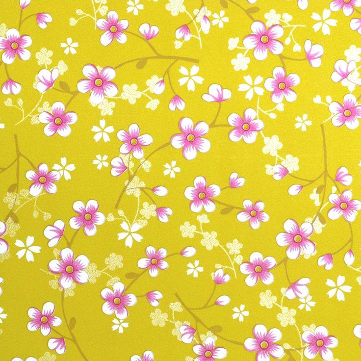 Pip Studio Behang Cherry Blossoms Geel behangnr 313020