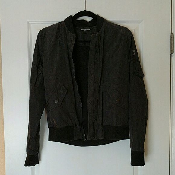 James Perse bomber jacket, 2 James Perse's black bomber jacket. James Perse's sizing, size 2. James Perse Jackets & Coats