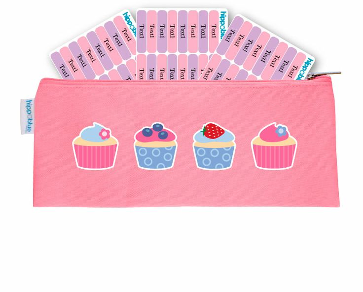 PINK PENCIL CASE  Hippo Blue is giving away 96 x FREE Pencil Labels with every Pencil case! The stationery pack for your kids first years in kindergarten, day care, crèche or school.