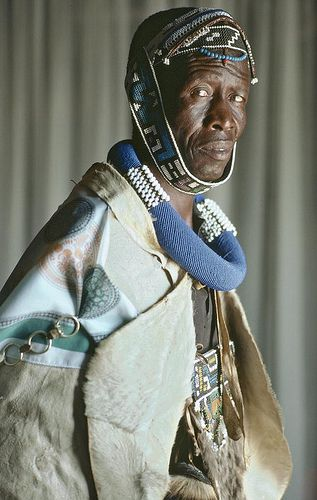 Africa | A man from the Ndebele tribe in South Africa wearing traditional…