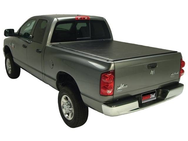 The TruXedo TonneauTrax tonneau cover is awesome truck bed cover not only covers your bed but also has a very handy cargo management system to help you haul whatever you need.