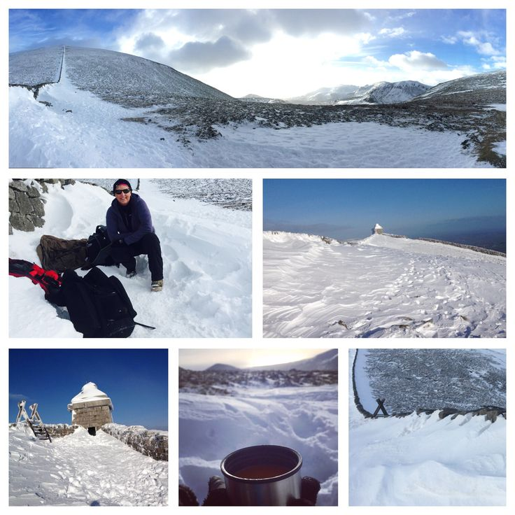 Great day on Slieve Donard in the snow #mournes #mountains #snow #fun