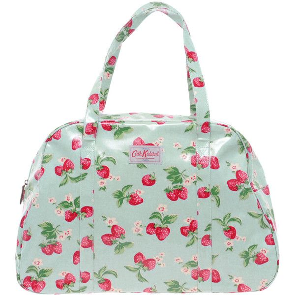 Cath Kidston Overnight Bag (865 SEK) ❤ liked on Polyvore featuring bags, accessories, handbags, purses, overnight bag, weekender bag, leather overnight bag, cath kidston and leather bags