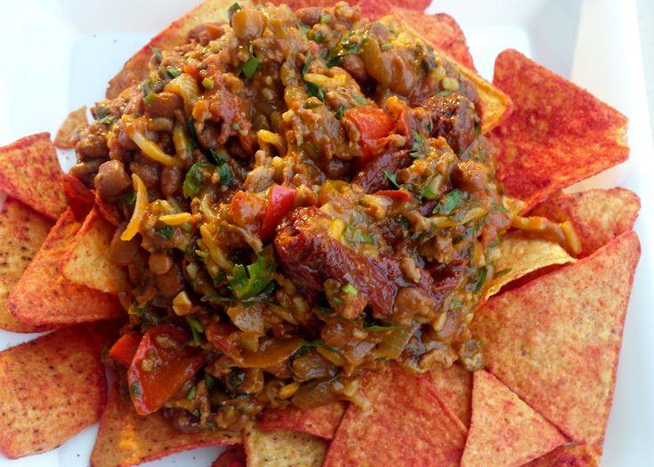turkey nachos   a healthier alternative to regular nachos with a solid hit of spice.