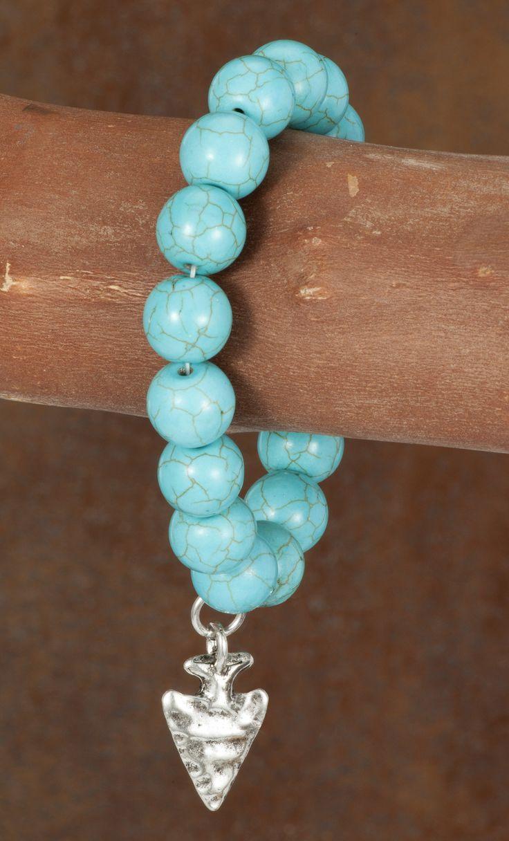 West & Co. Turquoise Stretch Bracelet