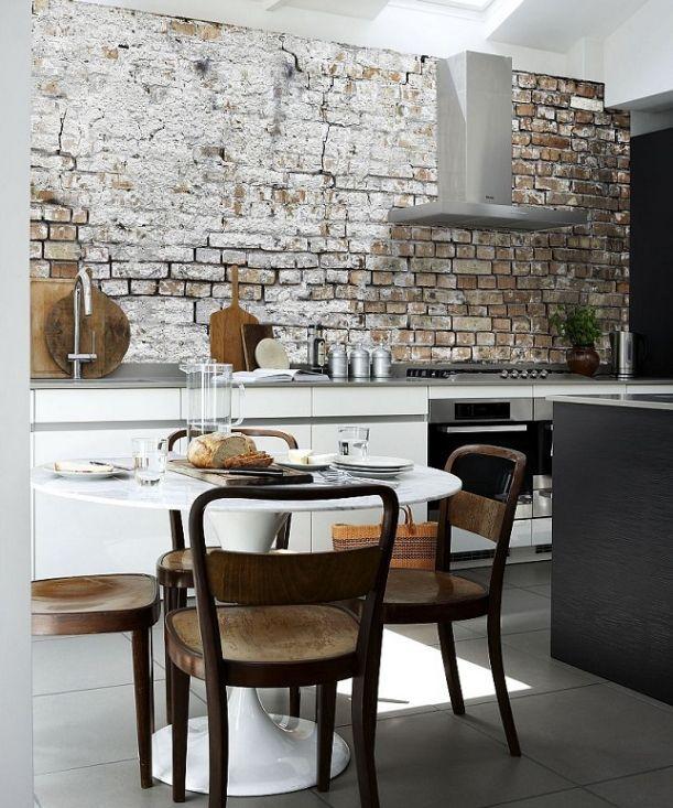 Betere Fotobehang Keuken: Afwasbaar Behang Voor Achterwand Keuken TV-86