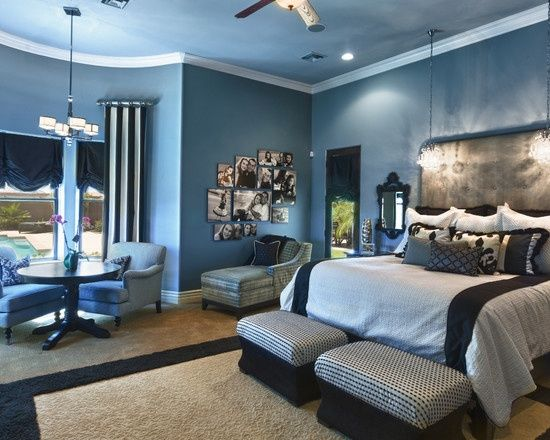 37 best images about couple bedroom ideas on pinterest for Blue bedroom ideas for couples