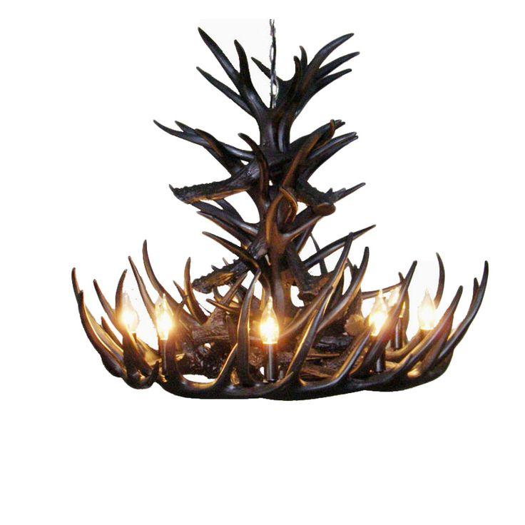 Achetez Rustique Cascade Ramure en Vedette Lustre avec 9 Lumières Nonir  avec…