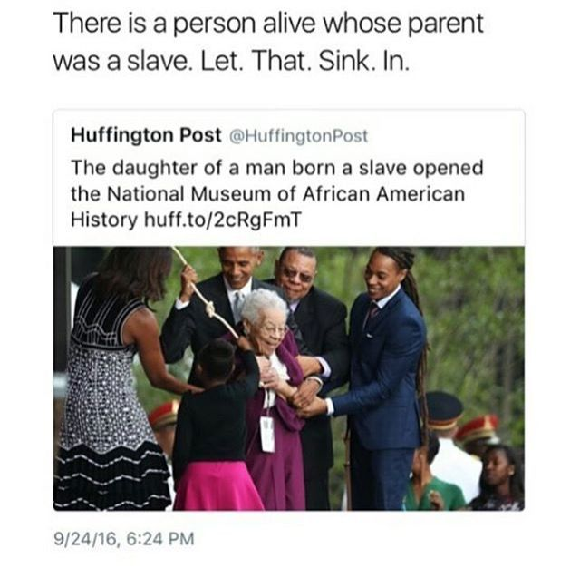 Wow. Real deal too - NPR reported on her after she died https://www.npr.org/2017/08/31/547646636/ruth-bonner-woman-who-helped-open-smithsonian-african-american-museum-dies
