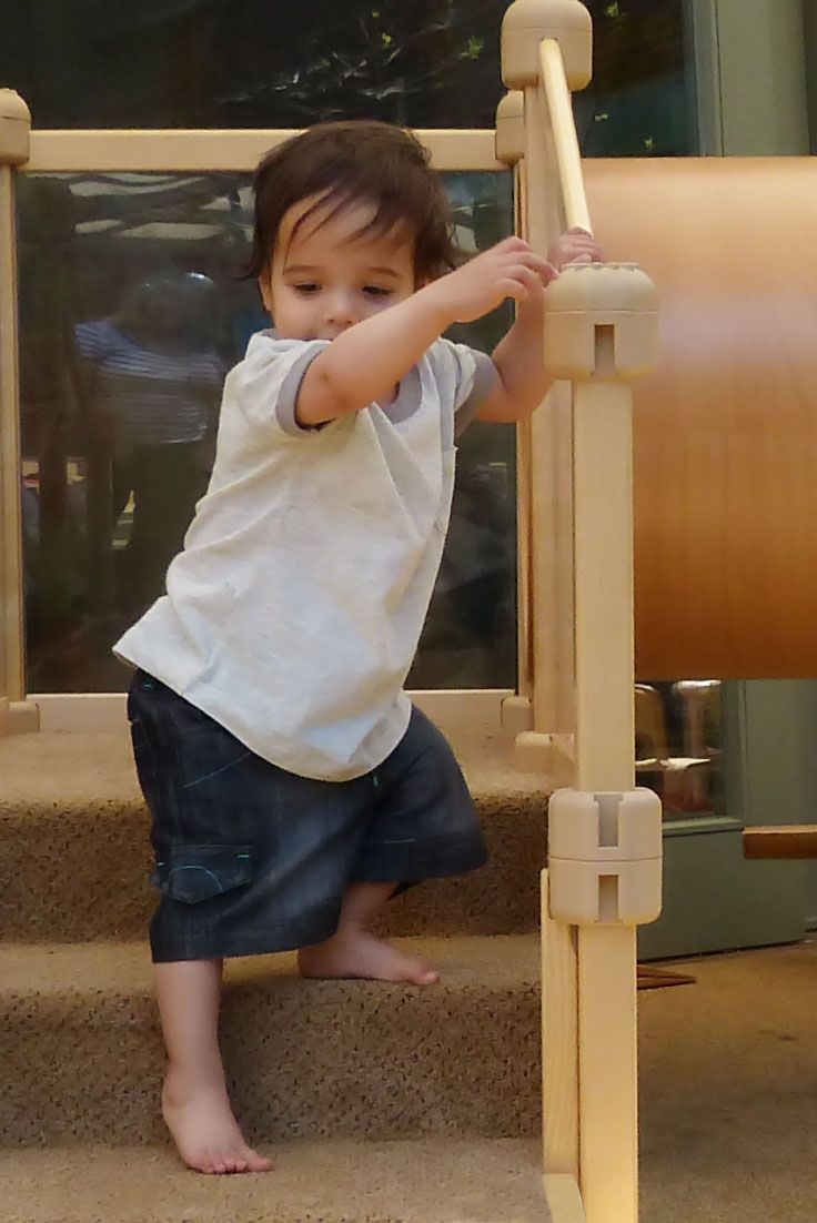 Young children learn through movement and play. These steps may look small, but they're a big adventure for this little boy.