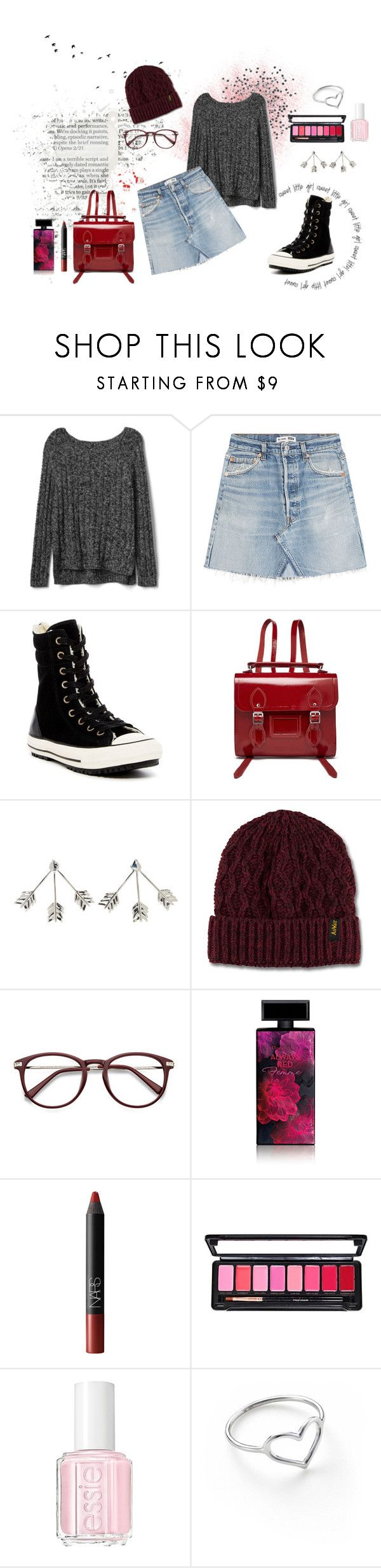 """""""Look of the day (25/01/17)"""" by marock ❤ liked on Polyvore featuring Gap, RE/DONE, Converse, The Cambridge Satchel Company, Pamela Love, Dr. Martens, Elizabeth Arden, NARS Cosmetics, Essie and Jordan Askill"""