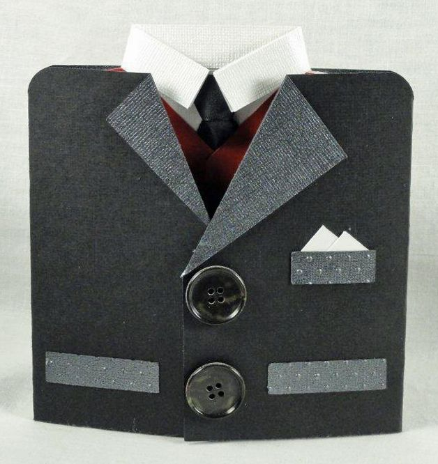Card Making Ideas For Men Part - 43: Fatheru0027s Suit Card With Cutting File